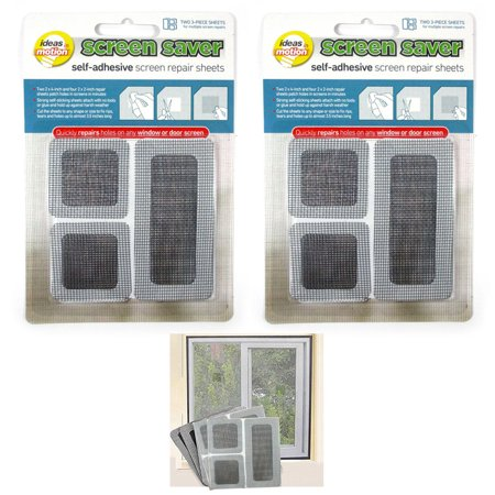 12 Screen Saver Mesh Repair Sheets Insect Window Mosquito Fly Net Patch Adhesive for $<!---->