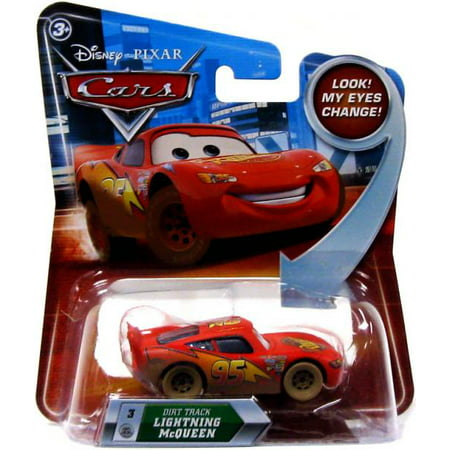 Disney Cars Lenticular Eyes Series 2 Dirt Track Lightning McQueen Diecast Car (Lightning Mcqueen Cars 2)