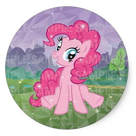 My Little Pony Pinkypie Birthday Edible Image Photo 8 Round Cake Topper Sheet Personalized Custom Customized Party