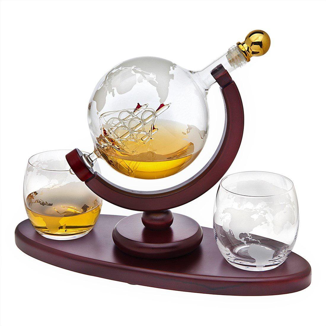 Globe 3pc Whiskey Set Dec+2dof