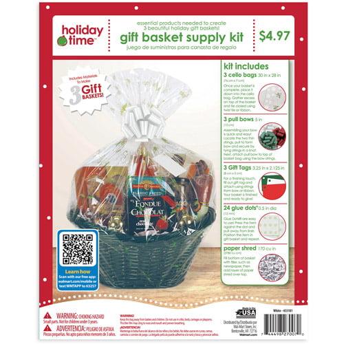 Holiday Time Gift Wrap Kit, White