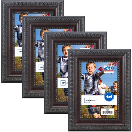 - Mainstays Mahogany Frame, Set of 4 - Multiple Sizes available