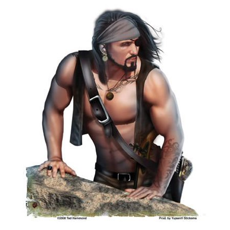 Ted Hammond - Pirate Pin-Up - Sticker / Decal - Pirate Merchandise