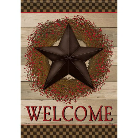 - Carson Home Accents Welcome Barn Star 2-Sided Polyester Garden Flag