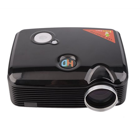 Improved 2500 Lumens Lcd Projector With Hdmi Input Home Theater Video Movie Projectors Black