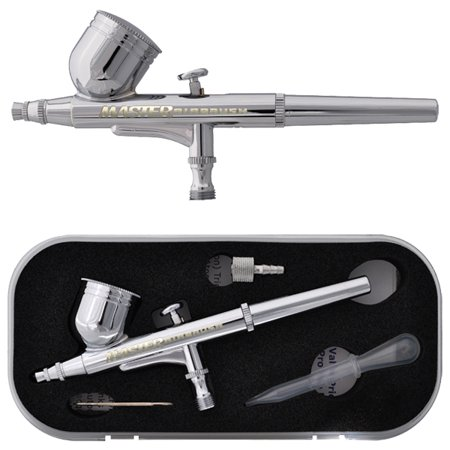 Master Multi-Purpose Precision Dual-Action Gravity Feed Airbrush with a 1/3 oz. Gravity Fluid Cup and a 0.3 mm (Airbrush Fluid)