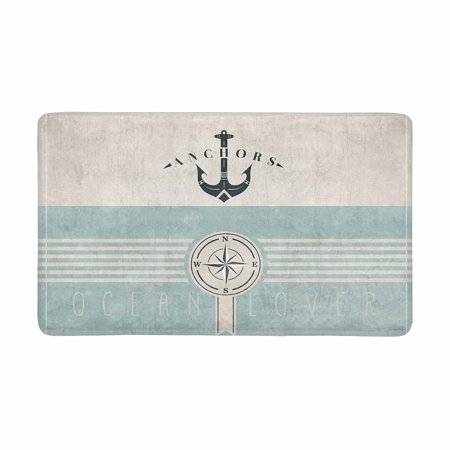 MKHERT Retro Nautical Anchor and Compass Ocean Lover Doormat Rug Home Decor Floor Mat Bath Mat 30x18 inch ()
