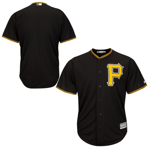 Pittsburgh Pirates Majestic Youth Official Cool Base Jersey - Black