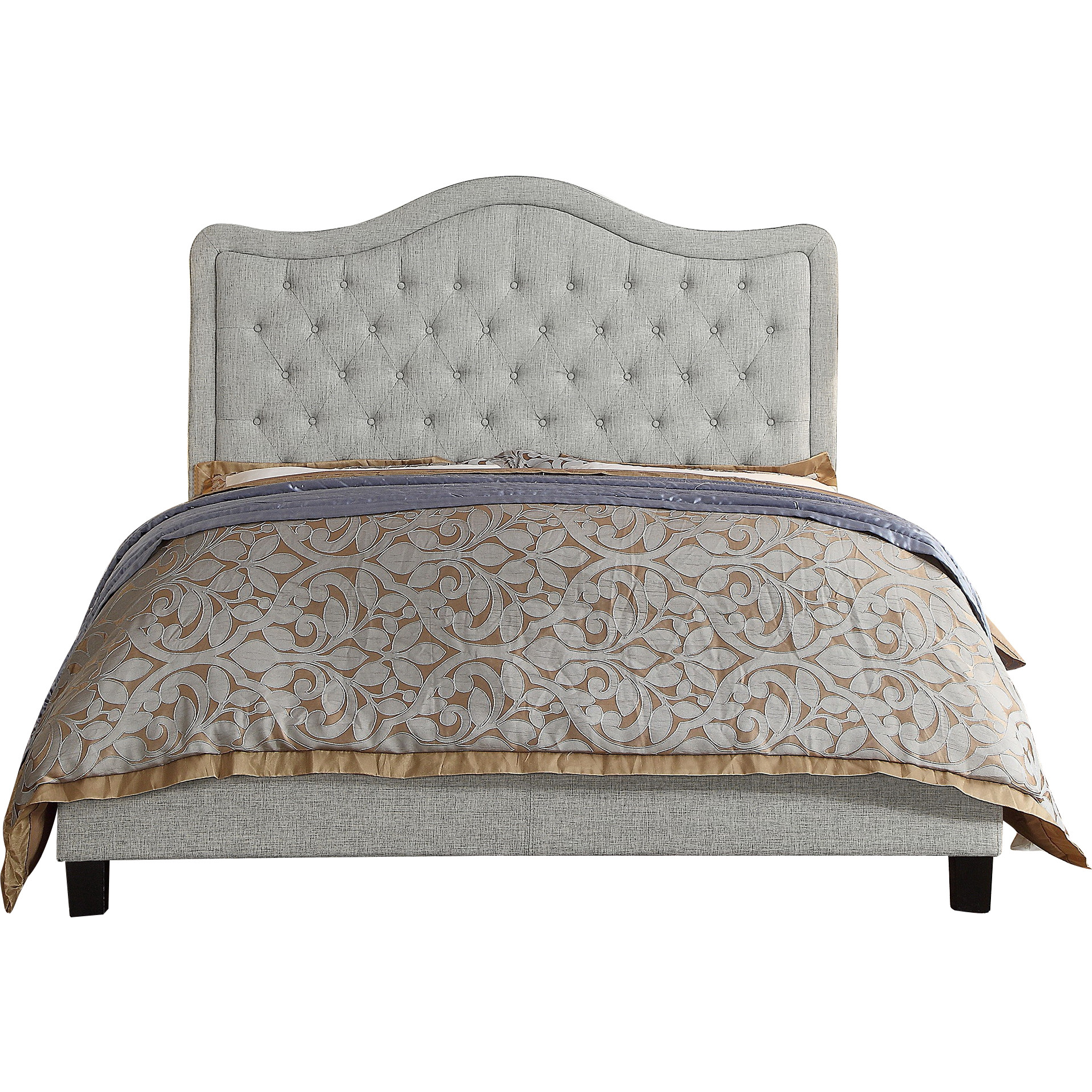 Alton Furniture Agnella King Upholstered Panel Bed, Gray by Fully Wind Co, Ltd.