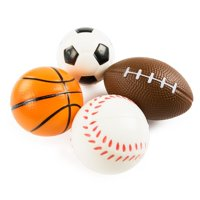Sports Themed Mini Stress Balls Squeeze Foam Party Favor Toys (12 Pack) by Super Z Outlet