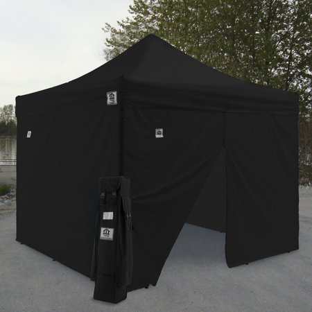 Impact Canopy Aol 10X10 Ft  Ez Pop Up Canopy Tent Instant Canopy Aluminum With Wheeled Roller Bag And Sidewalls