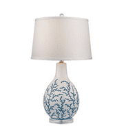 Table Lamps 1 Light With Pale Blue White Ceramic Acrylic Medium Base 27 inch 150 Watts