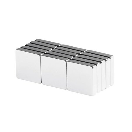 - totalElement 1/2 x 1/2 x 1/8 inch Neodymium Rare Earth Block Magnets N48 (15 Pack)