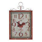 Aspire Red Rooster Wall Clock