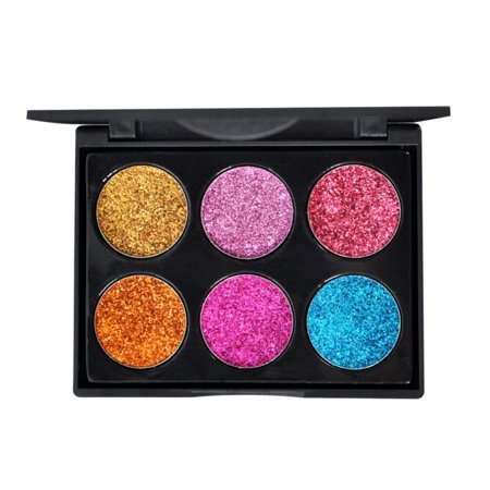 Marainbow 6 Colors Eyeshadow Palette Long Lasting Pigment Colorful Shimmer Shine Waterproof Makeup Glitter Eye Shadows Sets