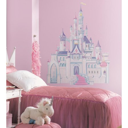 DISNEY PRINCESS CASTLE - Giant Wall Mural Decal Girls Room Decor Stickers - Castle Wall Decals