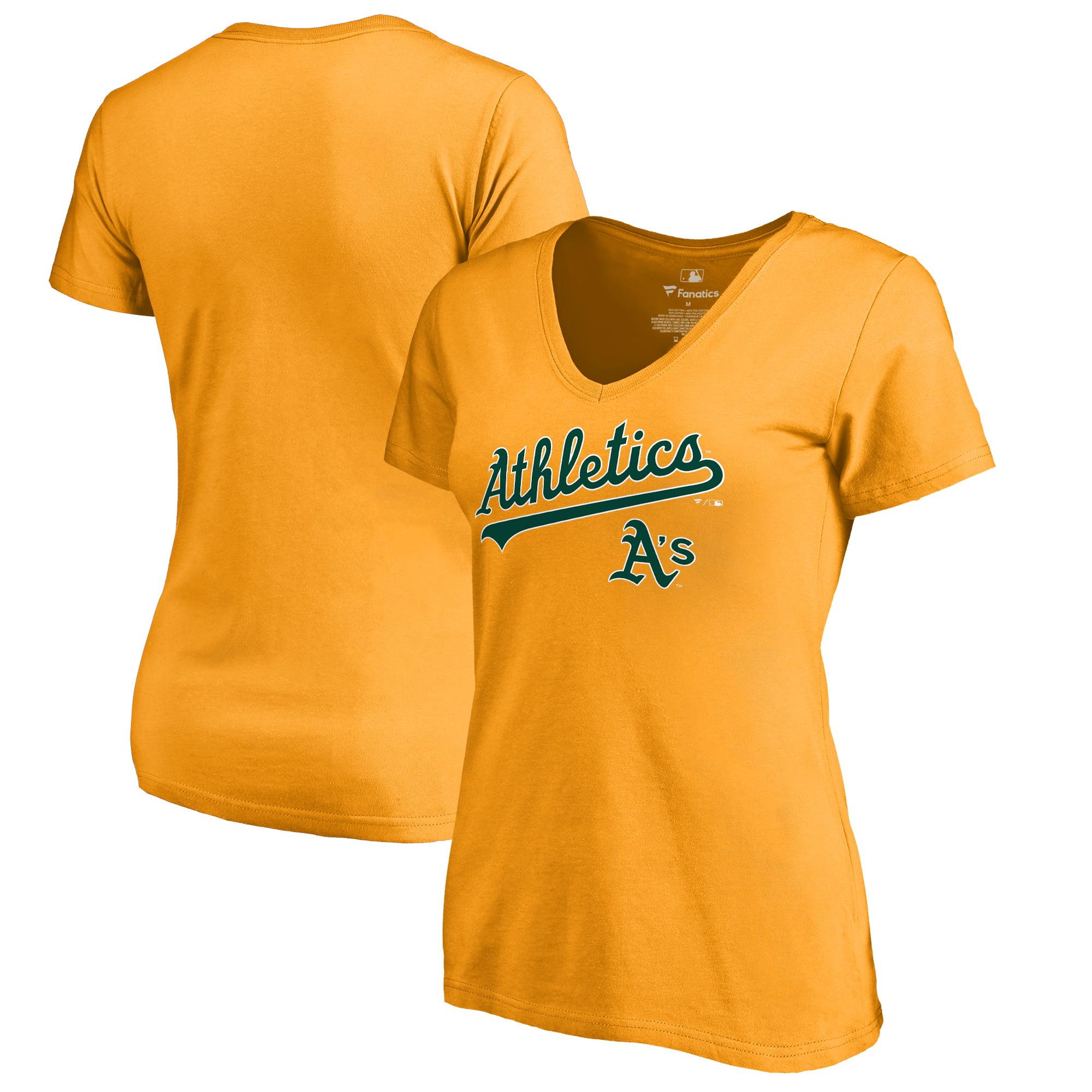 Oakland Athletics Fanatics Branded Women's Team Lockup T-Shirt - Gold
