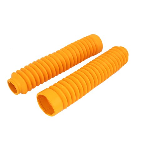 Unique Bargains Autobicycle Motorcycle Front Shock Absorber Dust Rubber Boot Yellow - Shock Gum