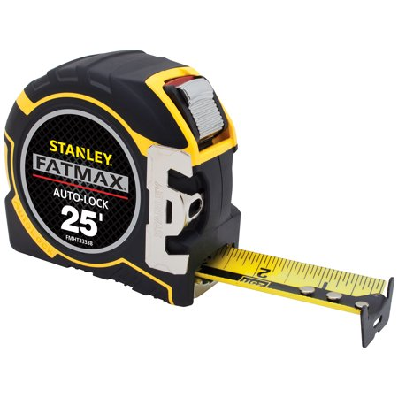 Auto Lock Measuring Tape (Stanley FMHT33338L 25' L X 1-1/4