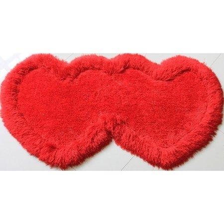 Amazing Rugs, LLC. Double Heart Shape Shag Area Rug (28-in x 55-in)](Double Mohawk)