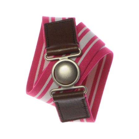 Aeropostale Juniors Stripe Stretchy Belt Petunia M/L