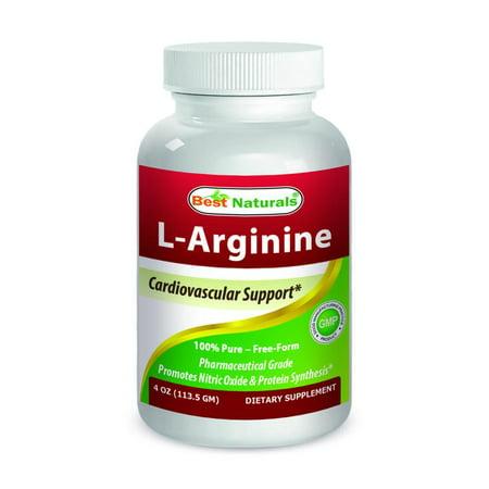 Best Naturals L Arginine Powder 4 Oz   100  Pure   Free Form   Pharmaceutical Grade