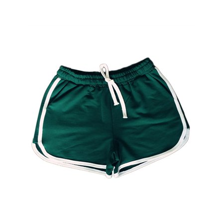 MAXSUN Women Cotton Sports Shorts Yoga Workout Running Fitness Drawstring Pockets -