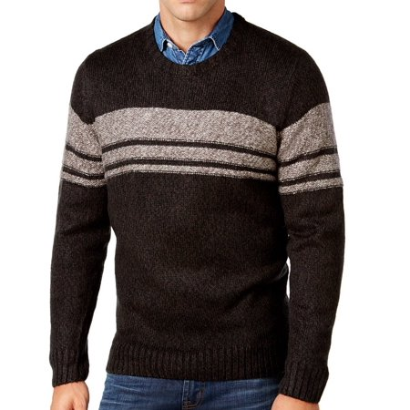 - NEW Black Mens Size XL Striped Crewneck Sweater