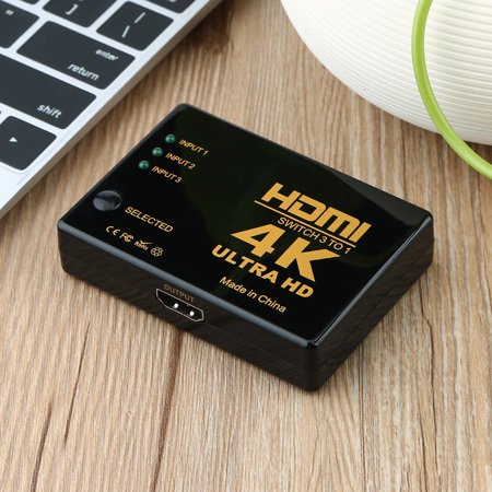 HC-TOP 3x1 Rectangle HDMI Switch 4k x 2k 3D HDMI Switcher Hub Port Switches HD1080p - image 12 of 13