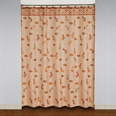 Kokopelli Southwestern Fabric Shower Curtain