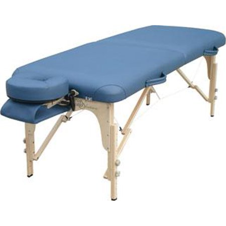 Solutions Heritage Portable Wood Massage Table-Color:Teal