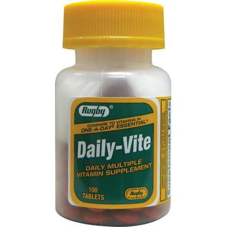 Vits Multiple Vitamin - Rugby Daily-Vite Multivitamin Tablets 100 ea