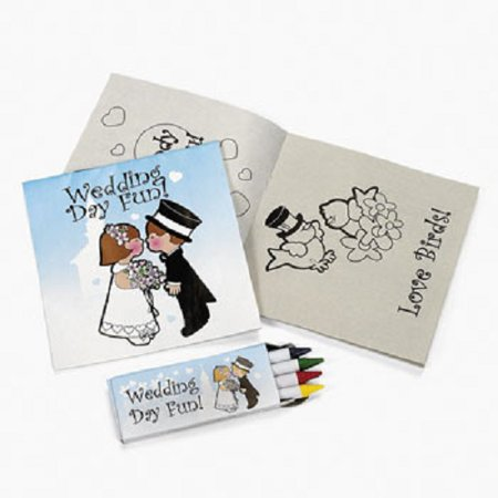 Lot of 12 Child Wedding Activity Sets Crayon Favors ()