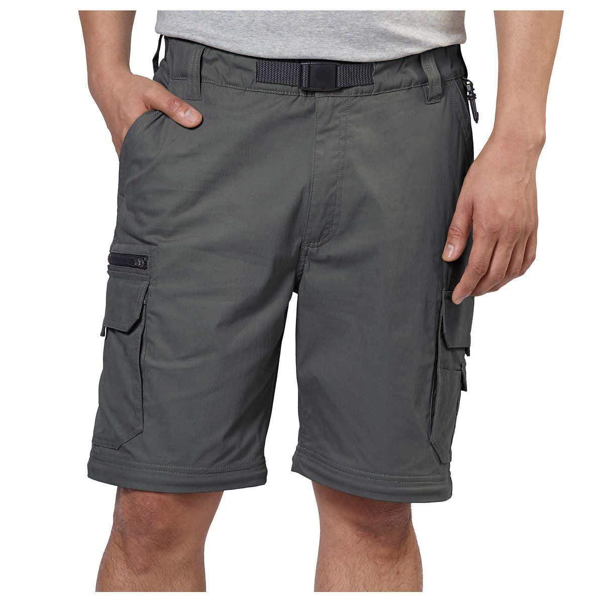 Zippered Pockets BC Clothing Mens Convertible Stretch Cargo Hiking Pants Shorts