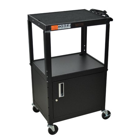 H. Wilson Company AV Cart with Cabinet