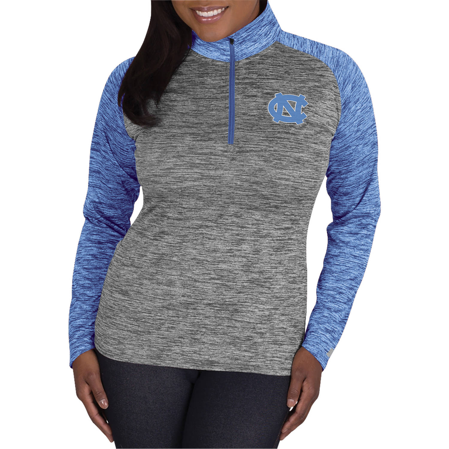 NCAA UNC Tar Heels Ladies 1/4 Zip Athletic-Fitness Pullover