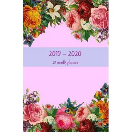 2019-2020 18 month planner : July 19 - Dec 20. Monthly and weekly planner for productive life. Monday start week. Includes Important dates, 2021 Future planning, Schedules and Assignments. 8.5' x 5.5'. (Portable) (Flowers in a circle