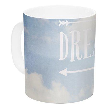 East Urban Home Dream Big By Susannah Tucker 11 Oz  Clouds Ceramic Coffee Mug