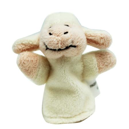 Kid's Plush Animal Finger Puppet: Lamb - By Ganz Little Lamb Finger Puppet