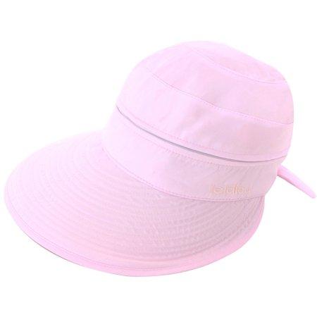 7c5bb90fb Simplicity Women's UPF 50+ UV Sun Protective Convertible Beach Hat Visor  Pink
