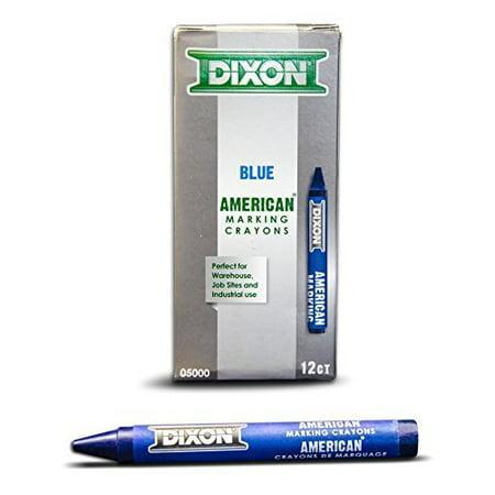 Dixon Ticonderoga 05000 5000 Blue American Marking Crayons (Rubber Marking Crayons)