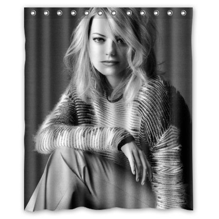 Deyou Emma Stone Shower Curtain Polyester Fabric Bathroom Shower Curtain Size 60X72 Inches