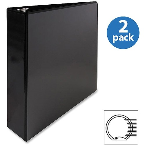 Sparco, SPR68020, Premium Round Ring View Binders, 1 Each, Black