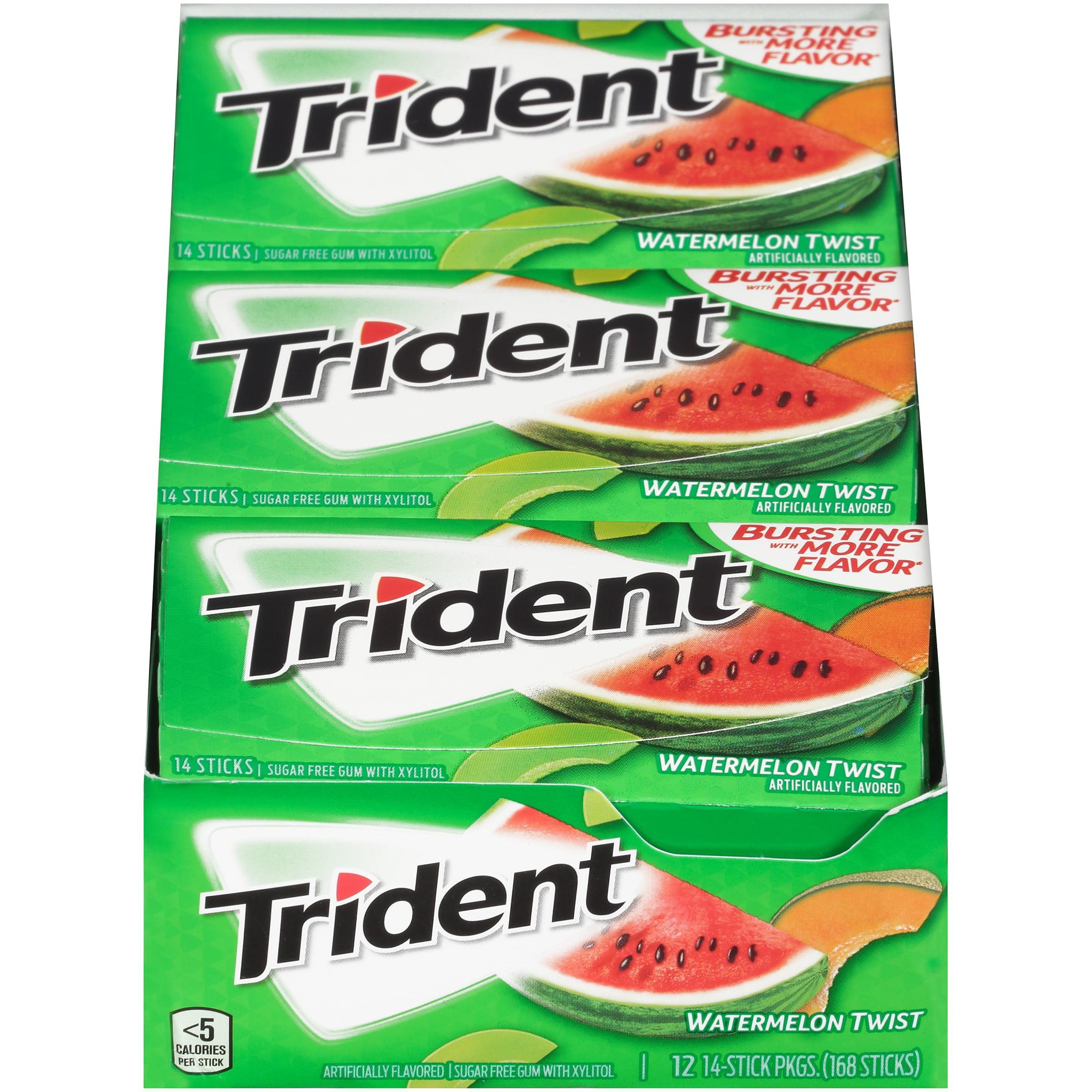 Trident, Sugar Free Watermelong Twist Chewing Gum, 14 Pcs, 12 Ct