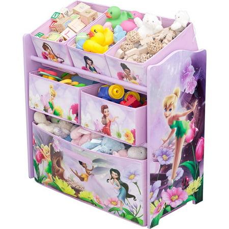 - Disney - Tinker Bell Fairies Multi-Bin Toy Organizer - Walmart.com