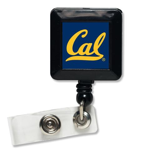 Cal Bears Official NCAA 1 inch x 1 inch  Retractable Badge Holder Key Chain Keychain by WinCraft