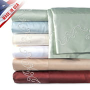 Veratex, Inc. Supreme Sateen 500-Thread Count Scroll Pillowcases, 2pk