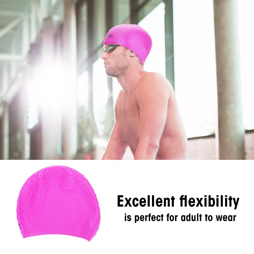 TOPINCN WHALE Adult Silicone Ear Cover Swimming Swimwear Bathing Cap Waterproof Swim Hat, Swimming Cap, Swim Cap