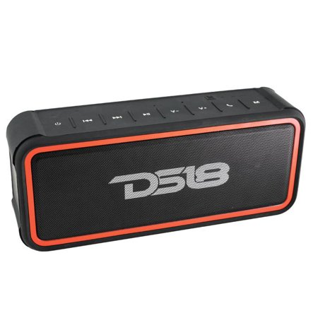 DS18 STORM-R FULLY Waterproof Portable Bluetooth Speaker 20W with Ultra HD Stereo Sound, Rich Bass, 10-Hour Playtime, Built-In Mic, Perfect Wireless Speaker for iPhone or (Best Water Speakers For Iphone)