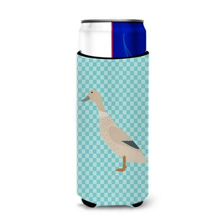 West Harlequin Duck Blue Check Michelob Ultra Hugger for Slim Cans - image 1 de 1